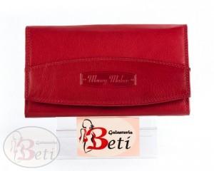 aa33392272a80 Czerwony portfel skórzany damski MONEY MAKER TOREBKI - SKLEP ...