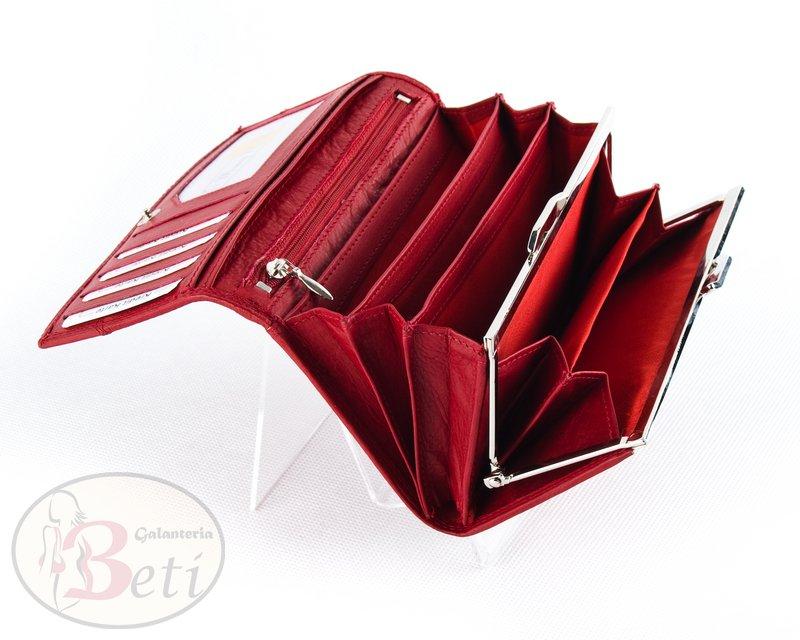2b60954a2a9cf Czerwony portfel skórzany damski MONEY MAKER TOREBKI - SKLEP ...