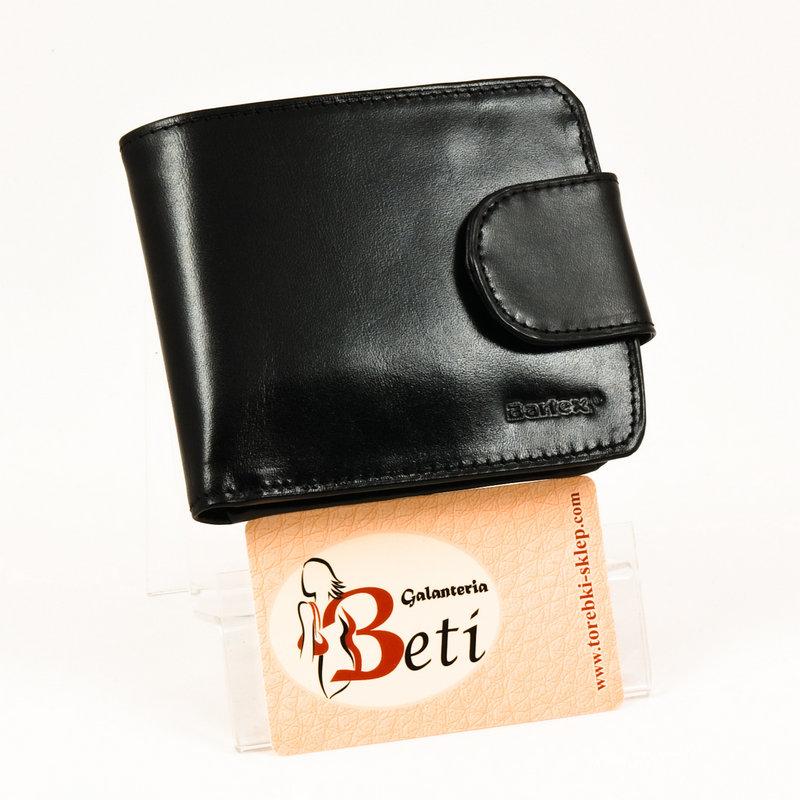 970b6f8fb19d5 Czarny portfel damski ze skóry bukatowej BARTEX TOREBKI - SKLEP ...