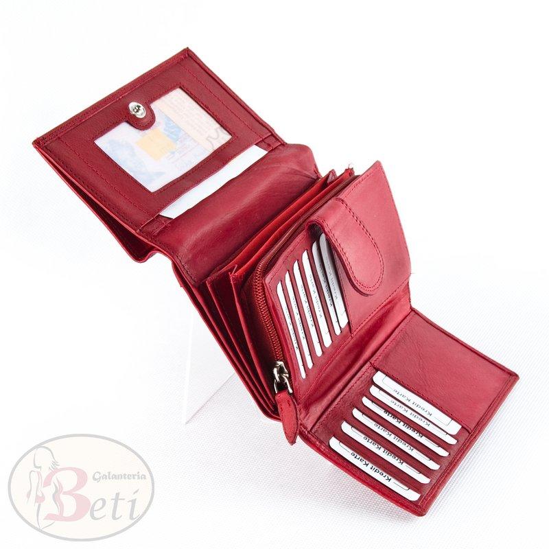238d3d8707afd Czerwony portfel skórzany damski MONEY MAKER TOREBKI - SKLEP ...